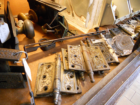 We do carry some ornate hinges, in case you need to replace one that's broken or missing.