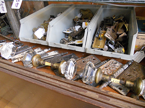 Crystal doorknobs, cabinet, and window locks round out some of our inventory.